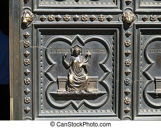 Florence Baptistery - South Portal by Andrea Pisano- 1336....
