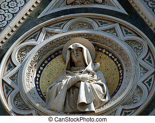 Florence - beautiful composition with Virgin Mary above the...