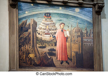 Florence - Duomo. Dante and the Divine Comedy