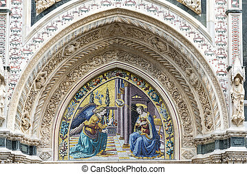Florence (Firenze, Tuscany, Italy): the cathedral, a side detail