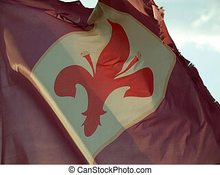 florence flag in the wind