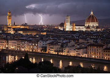 florence, italie, cityscape