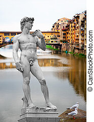 Florence, Italy - Design with famous landmarks in Florence, ...