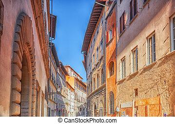 FLORENCE, ITALY- MAY 13, 2017: Beautiful landscape urba ...