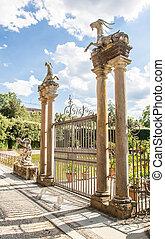 Boboli Gardens - Florence, Italy. Old Boboli Gardens during...