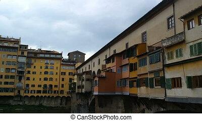 Florence Italy - SEPTEMBER 7, 2016. Bridge Ponte Vecchio