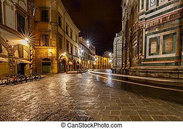 Florence. Night street.