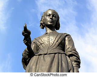 Florence Nightingale statue - Victorian memorial statue of ...