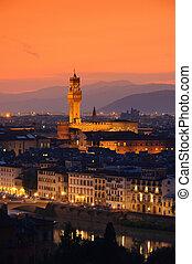 Florence Palazzo Vecchio evening 01