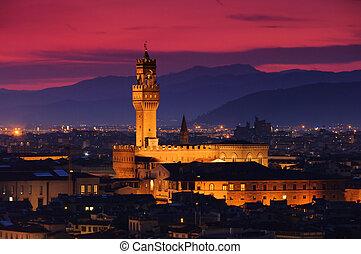Florence Palazzo Vecchio evening 02