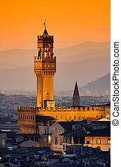 Florence Palazzo Vecchio evening 04