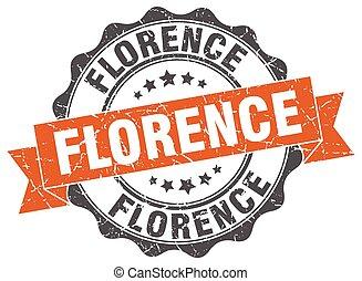 Florence round ribbon seal