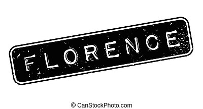 Florence rubber stamp. Grunge design with dust scratches....