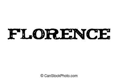 Florence stamp typ - Florence stamp. Typographic label,...