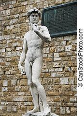 Florence - Italy, Tuscany, Florence. David of Michelangelo,...