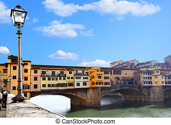 Florence - Bridge Ponte Vecchio in Florence, Italy