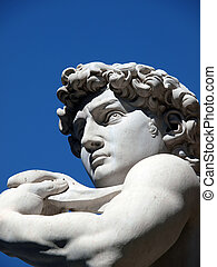 Florence - The statue of David by Michelangelo in Piazza...