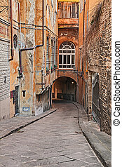 Florence, Tuscany, Italy: alley in the old town