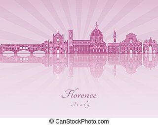 Florence V2 skyline in purple radiant orchid