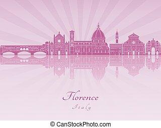 Florence V2 skyline in purple radiant orchid
