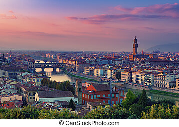 Florence View at sunset