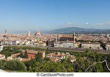 Florence,Tuscany, Italy .  View from the Michelangelo's Piazza