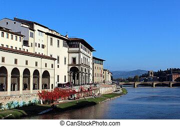 florencia, galería, italia, toscana, uffizi