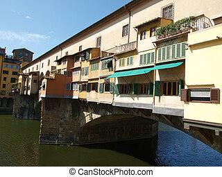 florencia, -, vista, de, el, ponte vecchio