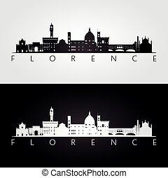 florenz, skyline silhouette, wahrzeichen