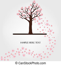 floresça árvore, vetorial