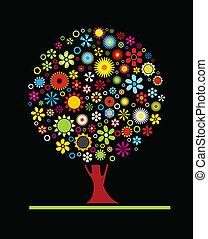flores, árvore