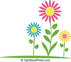 flores, 2, três