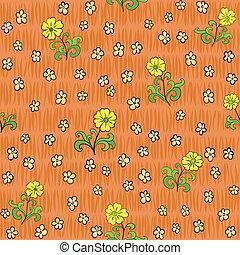 flores, abstratos, seamless, padrão experiência