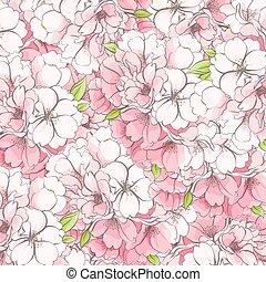 flores, apple-tree, fundo