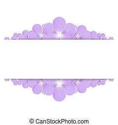 flores, borda, lilás