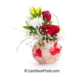 flores côr-de-rosa, buquet, rosas