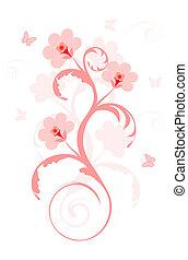 flores côr-de-rosa
