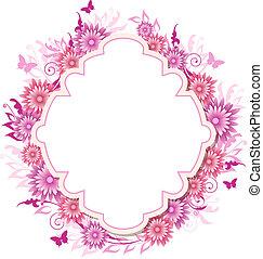 flores côr-de-rosa, fundo