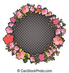 flores côr-de-rosa, grinalda