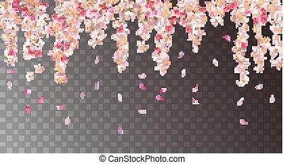 flores côr-de-rosa, hangingl