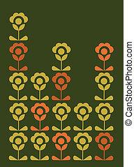 flores, cartão, papel parede, springtime, coloridos
