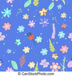 flores coloridas, seamless, pattern.