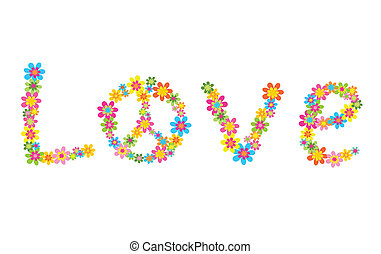 flores, com, amor