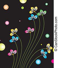 flores, com, bolhas