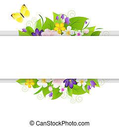 flores, com, papel