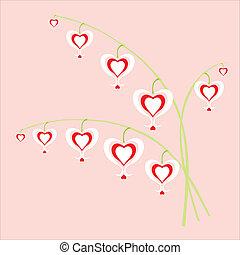 flores, corações
