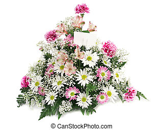 flores del resorte, con, tarjeta