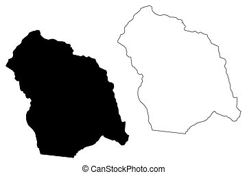 Flores Department (Departments of Uruguay, Oriental Republic of Uruguay) map vector illustration, scribble sketch Flores map