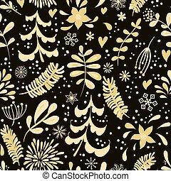 flores douradas, inverno