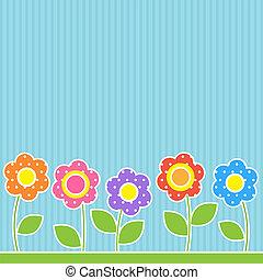flores, em, patchwork, estilo